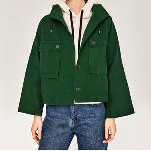 Zara 100% Cotton Hooded Jacket